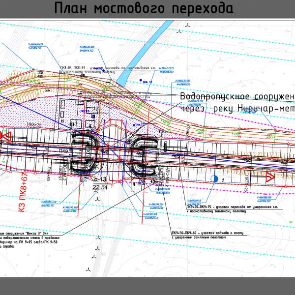 Мостовое однопролетное сооружение с подходами, р. Ниричар