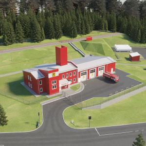 Пожарное депо для Департамента по ГО и ПБ Забайкальского края, с. Баляга